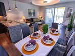 Dining Area for Six (6)  and Breakfast Bar for Four (4)