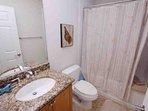 Hall Shared Bath w/Shower & Tub Combo