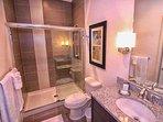 Downstairs Hall Shared Bath w/Walk In Shower