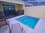 Private Splash Pool & Lanai Area w/Child Safety Fence