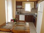 Your kitchen & indoor dinning area are open plan so spending time together is easy