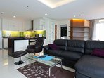 Large 80 m2 one bed, open plan kitchen, 2 balcony's near Night Bazaar area