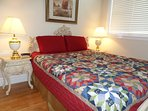 Room 2:  Ruby A features a queen size bed.