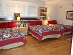 Room 3:  Ruby B is adjoining Ruby A and it features 3 full size beds.