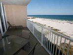 Private 4th floor balcony overlooking beach and Gulf