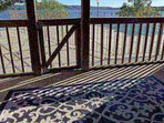 Private Covered Patio, Overlooking the Pool and Tablerock Lake.