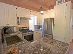 Upgraded kitchen with everything needed to prepare your meals