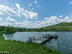 Swan Lake farm back pond for fishing and swimming