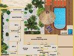 Floorplan Villa Nirvana Aruba