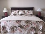 Tommy Bahama bedding on King Size Master bed.
