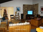 Living room,  Flat Screen TV, Electric FirePlace