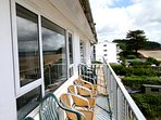 Balcony - perfect place to unwind and listen to the sounds of the sea.