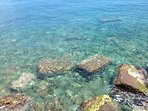 Crystal clear water of the Mediterranean Sea!