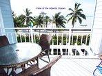 Veranda and view of Ocean
