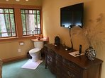 (Optional) toilet and convenience sink. Guest dresser storage and Apple TV.