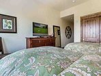 Bedroom 2 is the perfect room to let kids watch TV and wind down from a fun vacation day.