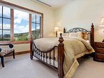Bedroom 3 with queen bed and amazing views!