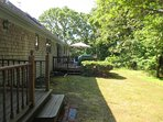 Small deck off Master bedroom - 14 Deer Run South Harwich Cape Cod New England Vacation Rentals