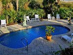 Private heated swimming pool