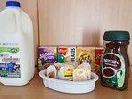Tea, Coffee &  breakfast cereals included...