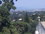 Corfu city panoramic view