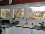 Kitchen and view