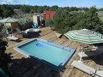 Pool and hot tub open from May 15 to October 15