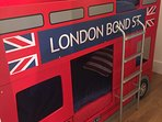The kids favourite! Our London Bus Bunk Beds.