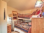 Bunk beds are perfect for the kids.