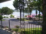 view from Picture Window condo D-4Lake Hamilton and BBQ & overview of property