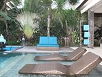 .. or the large twin deckchair under the palm tree..