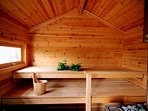 Traditional Finnish sauna