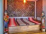 Thai Sala alcove with oriental mattresses