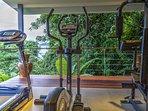 Tropical open plan Gym