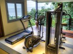 Tropical Gym with its amazing ocean views