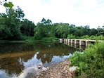 Low water bridge is an excellent place to drop kayaks, tubes, or spend the day swimming.