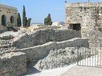 The famous Castillo de San Miguel is nearby
