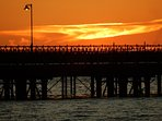 Take a Summertime sunset stroll along Ryde pier to soak up the atmospheric charm.