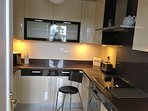 Contemporary kitchen finished to a high spec.