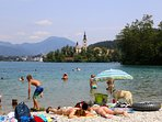Lake Bled, only a 45 minute drive from the chalet.