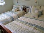 Updated bedding in Green room.