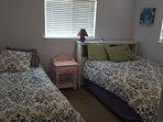 Updated bedding in Lavender room.