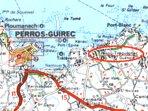 Commune de Trévou-Tréguignec sur la Côte de Granit Rose  près de Perros-Guirec