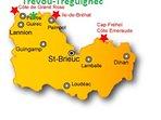 Côtes d'Armor, Trévou-Tréguignec sur la Côte de Granit Rose près de Perros-Guirec