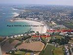 la plage de Trestel à 50m et 100m de nos locations