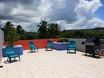 Private Rooftop Terrace With View of El Yunque