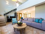 Living room: ground floor, Coco-mat sofa