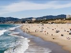 World-famous Santa Monica and Venice beaches are right down our cross street