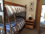 Upstairs 5th bedroom with bunk beds