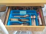 spoons, forks, knifes, wine opener ... (all for 7ppl)